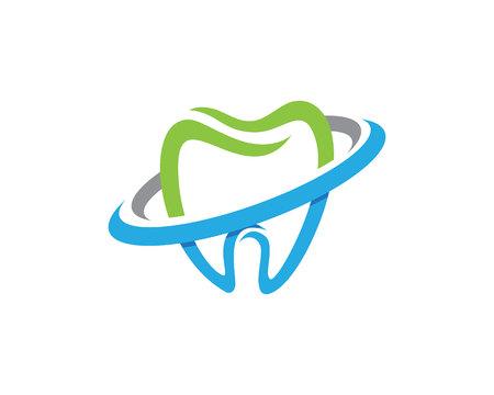 歯科のロゴのテンプレート アイコン