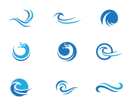 water: Water Wave Icon Logo Template