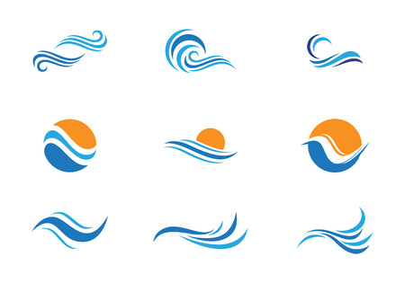 ocean wave: Water Wave Icon Logo Template
