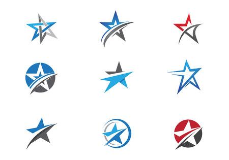 星のロゴのテンプレート  イラスト・ベクター素材