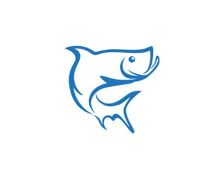 logo poisson: Poisson logo modèle Illustration