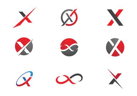 X Letter Logo Template