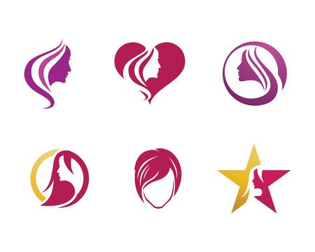 Beauty Women Icon Logo Template vector icon