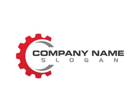 Gear Logo Template vector icon illustration design Vectores