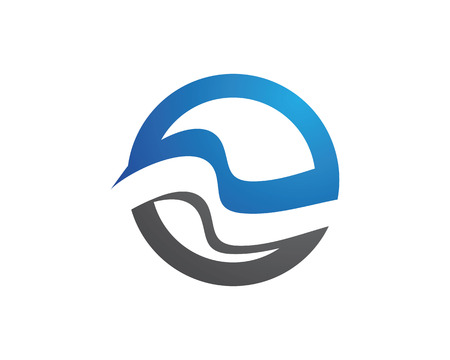 Water Wave symbol and icon Logo Template vector.