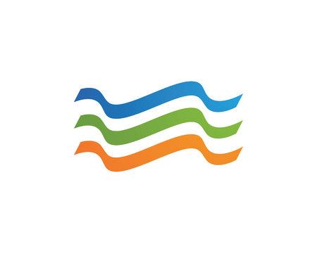 windsurf: Símbolo y el icono de la onda de agua Logo Template vector. Vectores