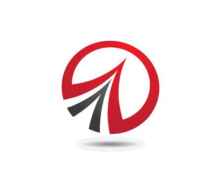 globe logo: S Letter Faster Logo Template vector icon illustration design