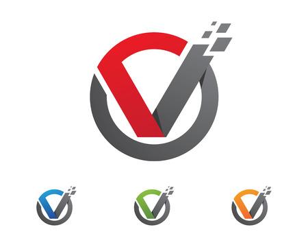Artistic  V Letter Logo
