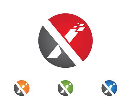 slope: Artistic  X Letter Logo Template vector icon design