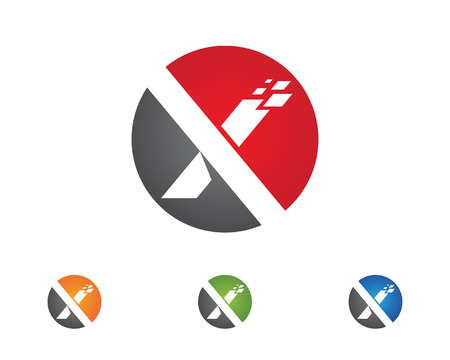 Artistic  X Letter Logo Template vector icon design