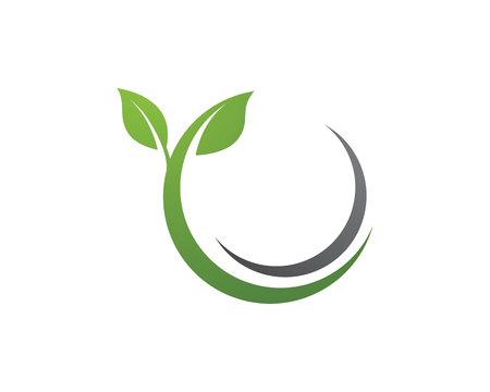 Tree leaf vector logo design, eco-friendly concept 일러스트