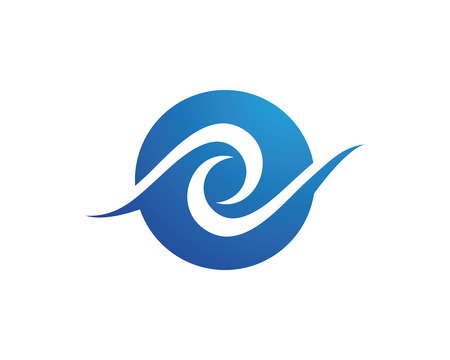 water s: Water Wave symbol and icon Logo Template vector