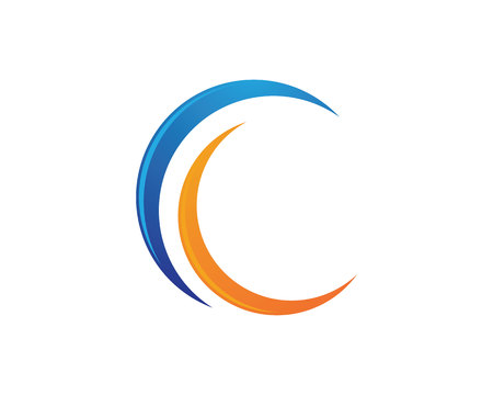 C Letter Logo Template vector icon design