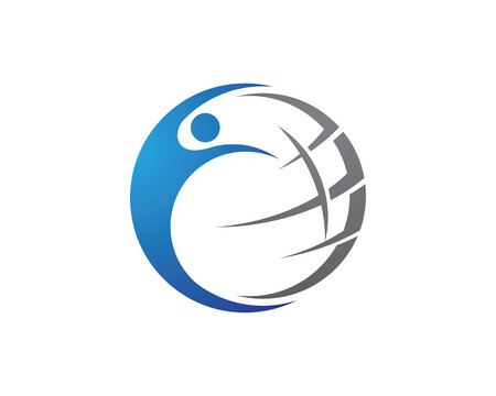 globe logo: Wire World Logo Template