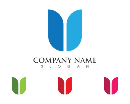 U Letter Logo Business professional logo template