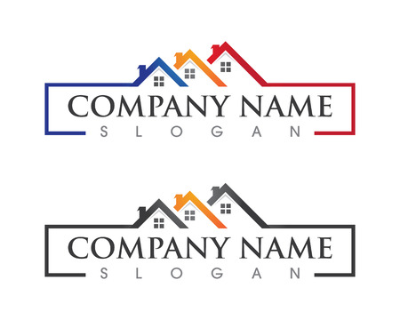 Real Estate , Property and Construction Logo design for business corporate sign . Vector Logo