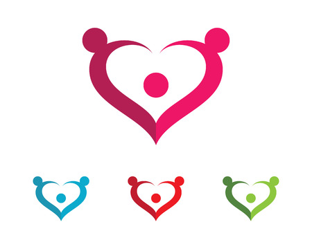 heart puzzle: Adoption and community care  template vector icon