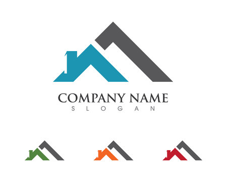 Real Estate , Property and Construction Logo design for business corporate sign . Illustration
