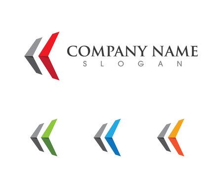 Arrows vector illustration icon Logo Template design Logo