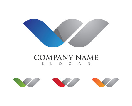 W Letter Logo Business professional logo template Ilustrace