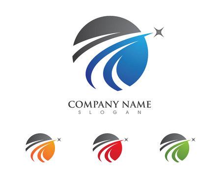 Más rápido del logotipo del vector plantilla de diseño icónico
