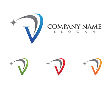 V Letter Logo Business professional logo template