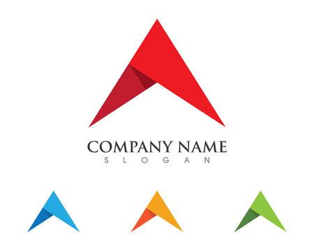 Un modello di business logo lettera su sfondo bianco Archivio Fotografico - 73409811