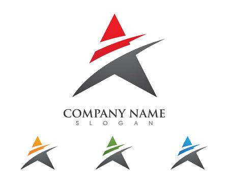 Un'icona di vettore del modello di affari di logo della lettera su fondo bianco Archivio Fotografico - 73409813