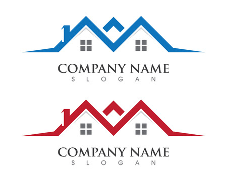 Real Estate , Property and Construction Logo design for business corporate sign on white background