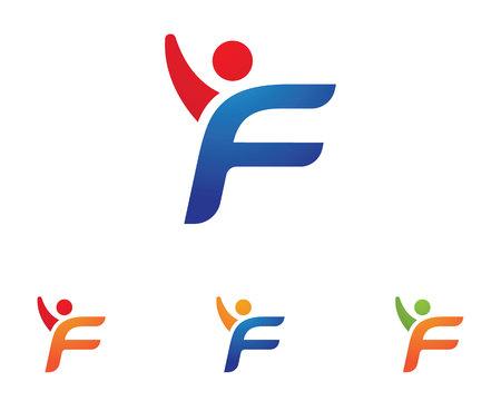 Leuke mensen gezond leven Logo sjabloon vector pictogram Stock Illustratie