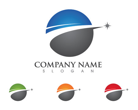 globe logo: Faster Logo Template vector icon illustration design Illustration