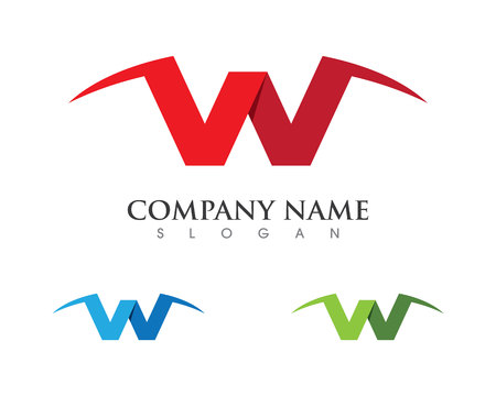 W Letter Logo Business professional logo template Illustration