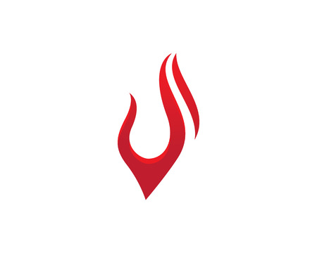 Fire flame icon Template