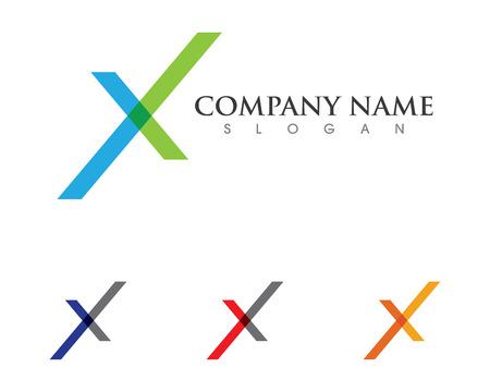 slopes: X Letter Logo Template