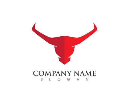 corrida de toros: Red Bull Tauro Plantilla del logotipo del icono del vector ilustración Vectores