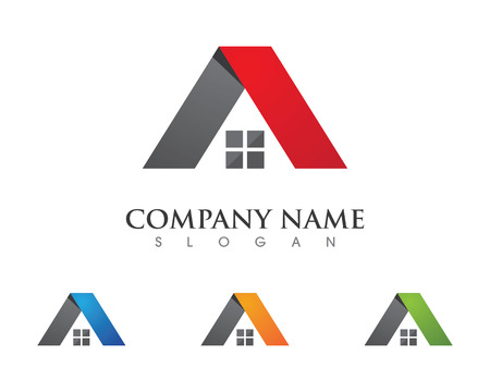 housing estate: Property Logo Template Illustration