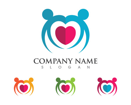 adoption: Adoption and community care Logo template vector icon