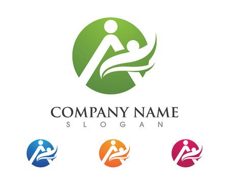 people: Fun people Healthy Life Logo template