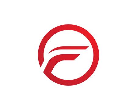orion: F Letter Faster Logo Template vector icon illustration design