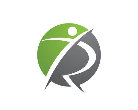 Leuke mensen Healthy Life Logo sjabloon vector icon