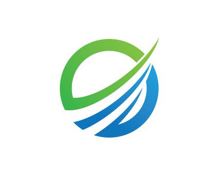Faster Logo Template vector icon illustration design Stock Illustratie
