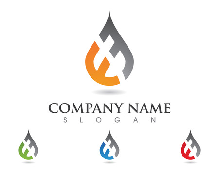 e business: Water Wave Icon Template