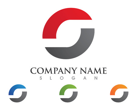 Business corporate letter S logo design vector Illustration