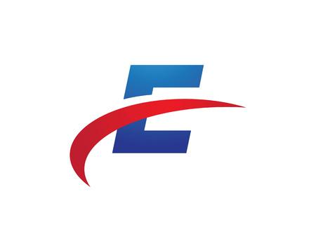 faster: E Letter Faster Template illustration