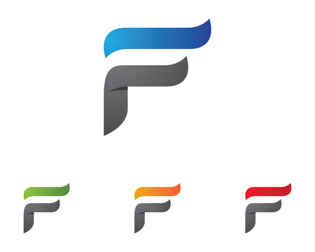 F Letter Template Illustration