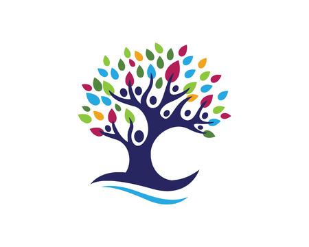 tree: Eco Tree Leaf Logo Template Illustration