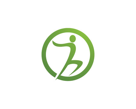 healthy people: Fun people Healthy Life Logo template vector icon