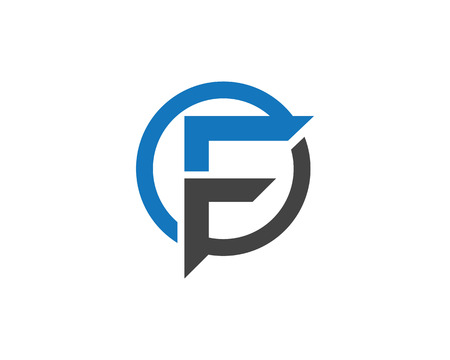 F Letter Logo Business professional logo template  イラスト・ベクター素材