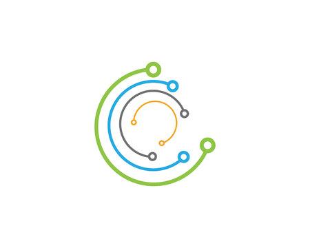 Cavo, fili, cavi icona logo vettoriale modello