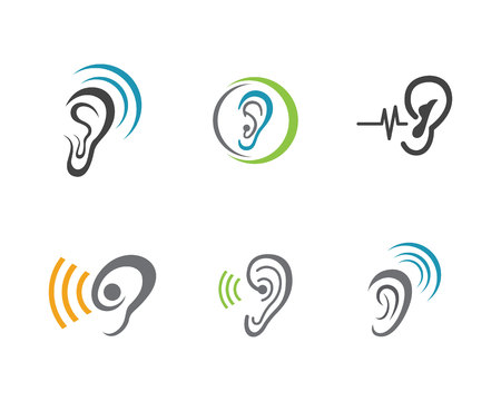 audition: Hearing Logo Template vector icon design